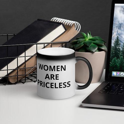 Women Are Priceless  (WAP) Matte Black Magic Mug