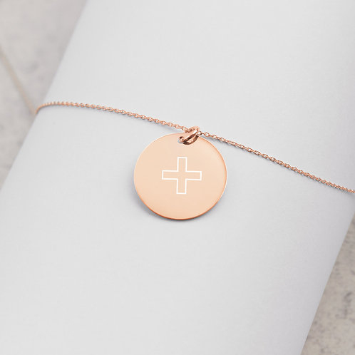 Make It Your Own - Engraved Silver Disc Chain Necklace