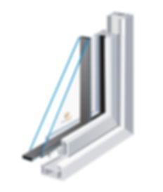 Double glazed nit using Thermoflex