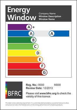 Rainbow style Window Energy Rating