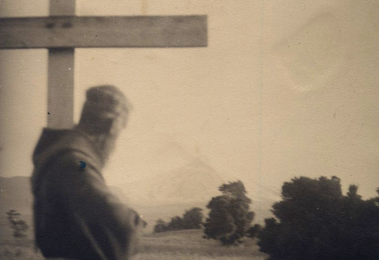 Padre Francisco Valdés en tiempos en que era párroco de Pucón. Hacia 1952