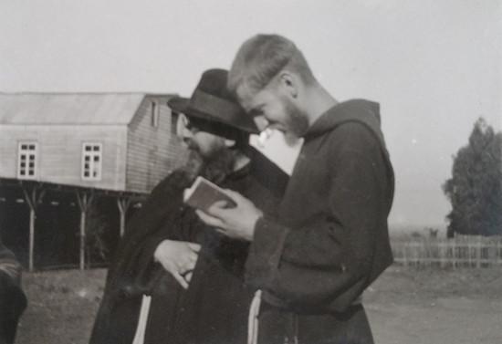Padre Francisco, joven misionero en la Araucanía, hacia 1937