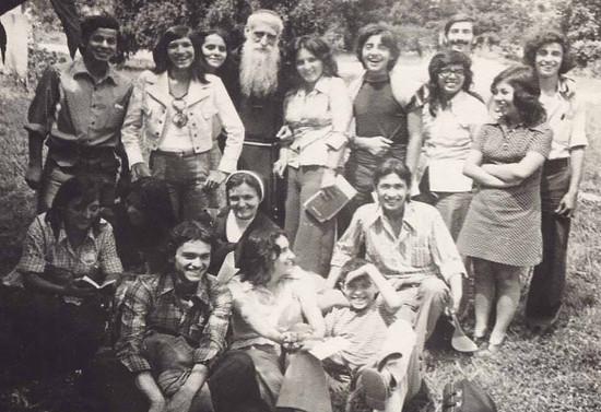 Grupo de jóvenes focolares. Década de los 70