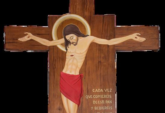 Cristo de Quilacahuín. Parroquia San Bernardino de Siena en la Misión de San Pablo en Quilacahuín