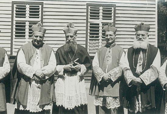 Retrato de obispos chilenos.1956-1957