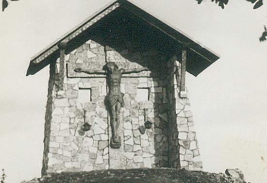 Cristo de Antumalal en Pucón. Después de 1954