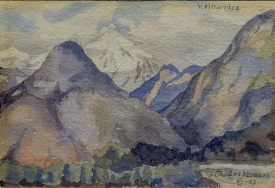 Volcán Villarrica, Los Nedados. Junio de 1943