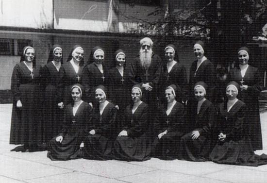 Visita a religiosas del Colegio Santa Marta de Osorno. 1973