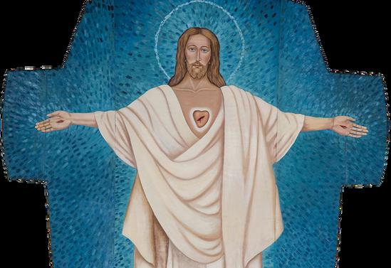 Cristo resucitado de Curarrehue. Parroquia San Sebastián de Curarrehue.