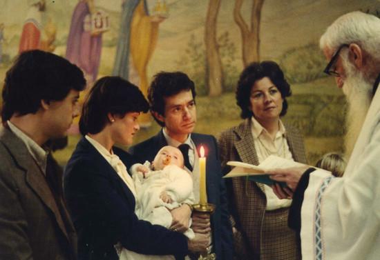 Ceremonia de Bautizo de Blanca Rodríguez Valdés, sobrina nieta, 1981