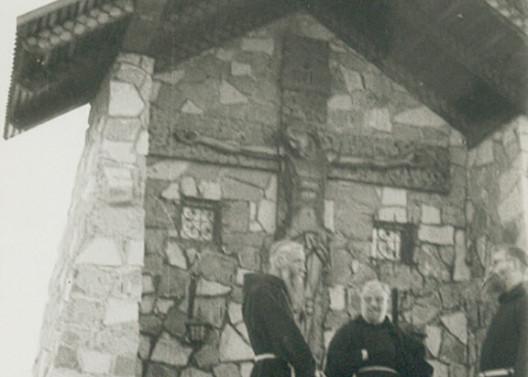 Cristo de Antumalal en Pucón. 1968