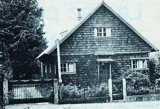 Casa del obispado de Osorno donde residía monseñor Valdés, hacia 1982