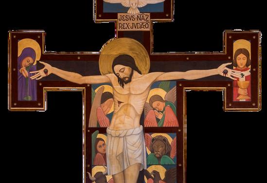 Cristo con evangelistas. Catedral de Santa María de Los Ángeles