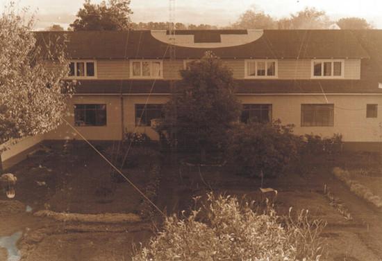 Vista del Hospital de Pucón. Después de 1948