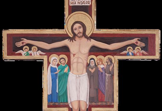 Cristo pintado del Monasterio Santa Clara, Pucón