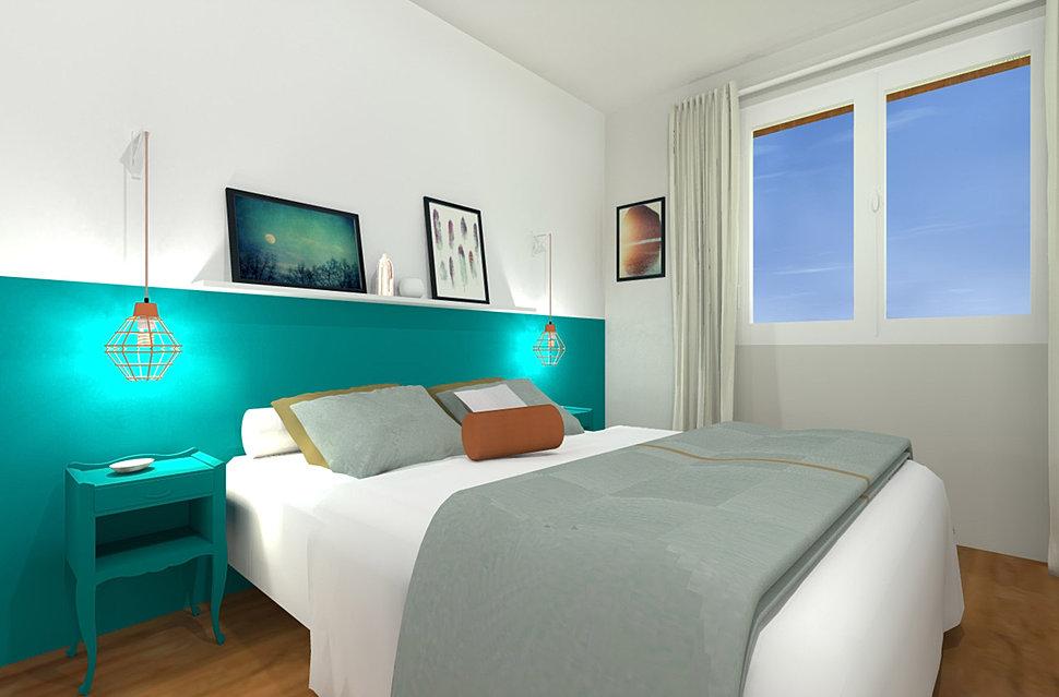 tete de lit en peinture idees de decoration. Black Bedroom Furniture Sets. Home Design Ideas