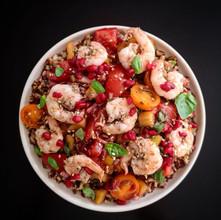 SUMMER SALAD IDEAS: Tomato, Pomegranate & Za'Taar Prawns