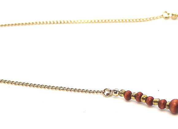 IMPSMMJN116 - Wood Necklace