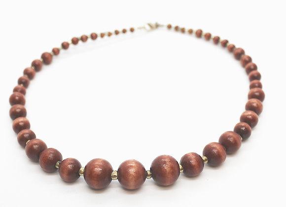 IMPSMMJN114 - Wood Necklace