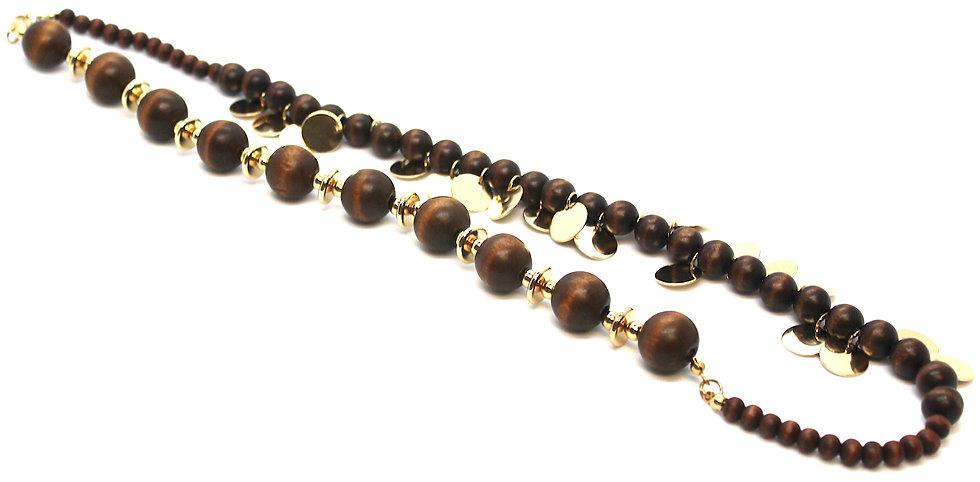 IMPSMMJN1113 - Wood Necklace