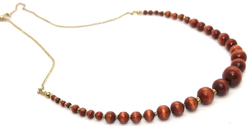 IMPSMMJN115 - Wood Necklace