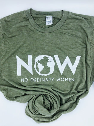 NOW Logo T - Olive