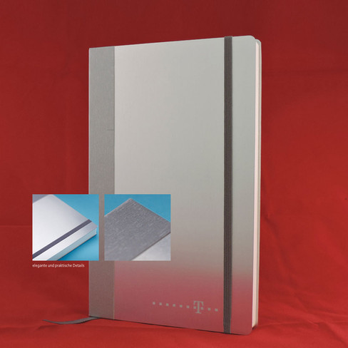 Notebook Alu I Notizbuch Aluminium
