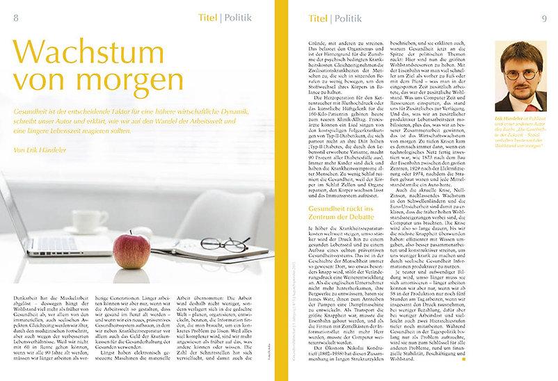 Erik Händeler - Print-Artikel - Wachstum von morgen