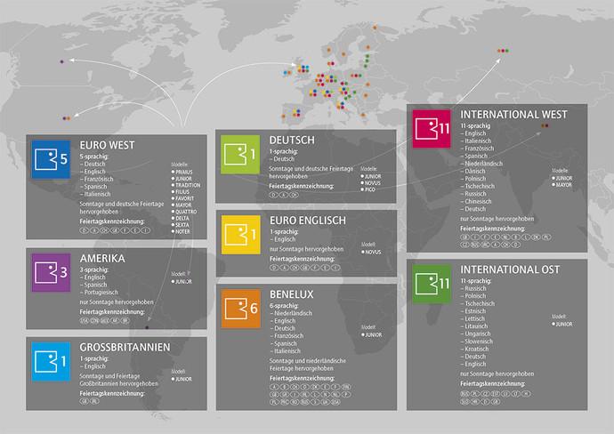Unsere Kalender sprechen viele Sprachen!