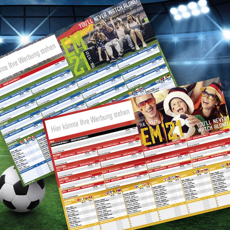 Fussball-EM Spielplan 2021 Querformat
