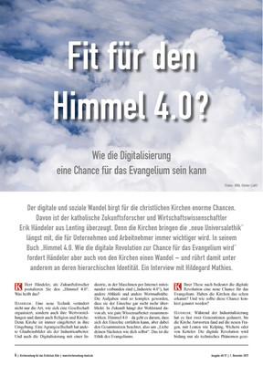 Fit für den Himmel 4.0?