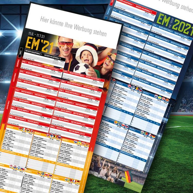 Fussball-EM Spielplan 2021 Hochformat
