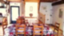 la salle à manger du gîte Laguës