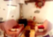le coin salon du gîte Laguës