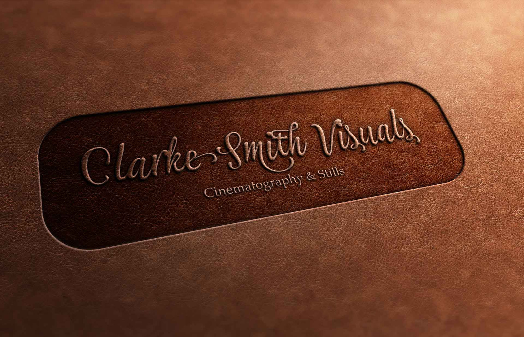 Clarke Smith Visuals Leather Stamped Logo