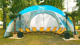 Sommer Lounge Beschattung