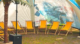 Sommer Lounge Wetterschutz