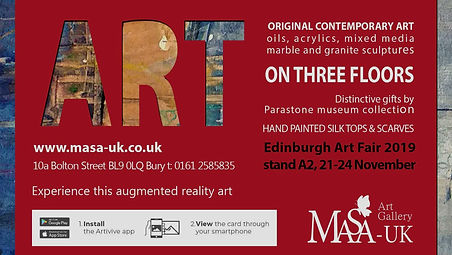 MASA-UK Art Gallery preview of the original art on offer, local and international artists exhibiting