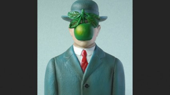 "Magritte ""The Son of a Man"" pocket art"