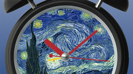 Van Gough Starry Night Clock