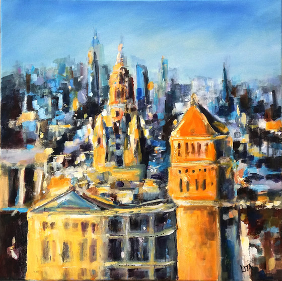 Lita Narayan semi-abstract cityscape exhibition at MASA-UK Art Gallery