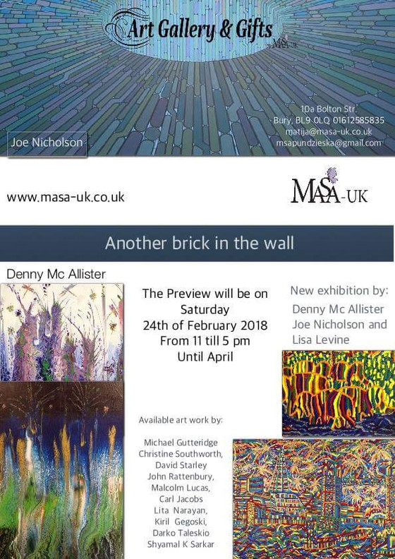 Another Brick In The Wall exhibition opening this Saturday 24th of February from 11am till 5pm at MA