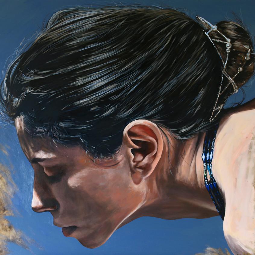 Grace by Nigel Stewart, oil on canvas, 8