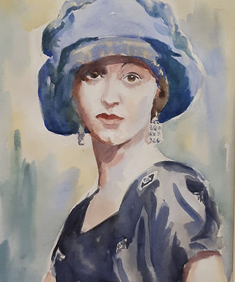 Olga the Blue's Monet by George Clayton