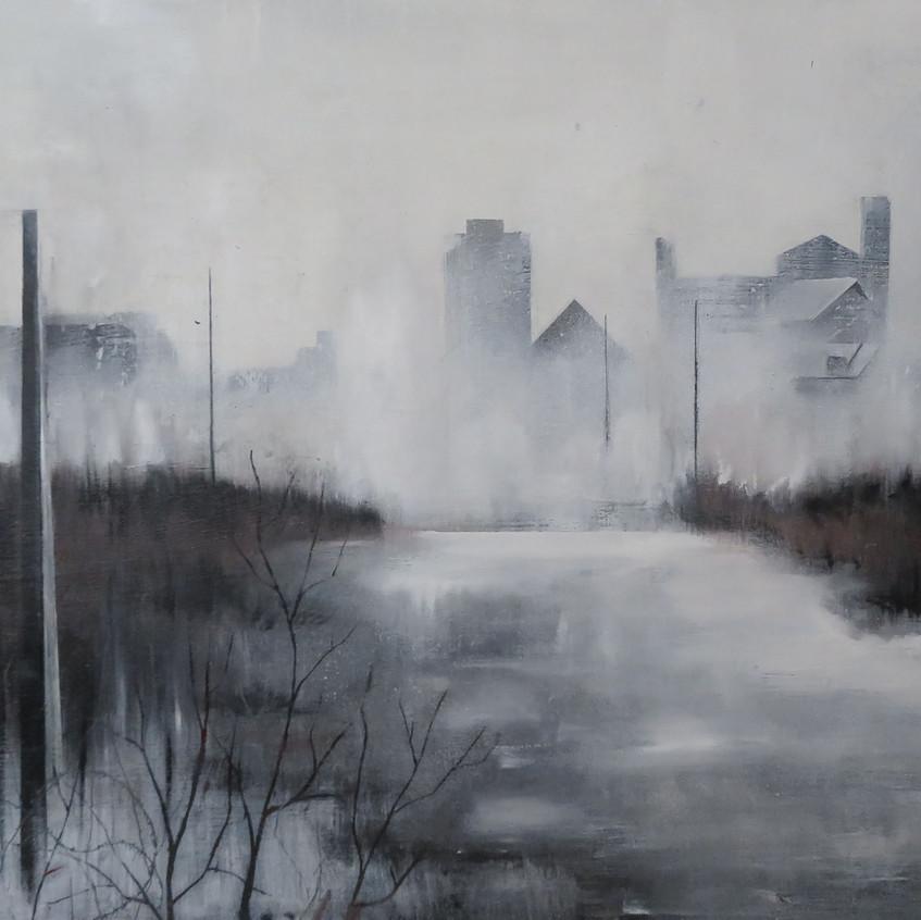 Autumn City-Oil on Canvas- 80cm_40cm