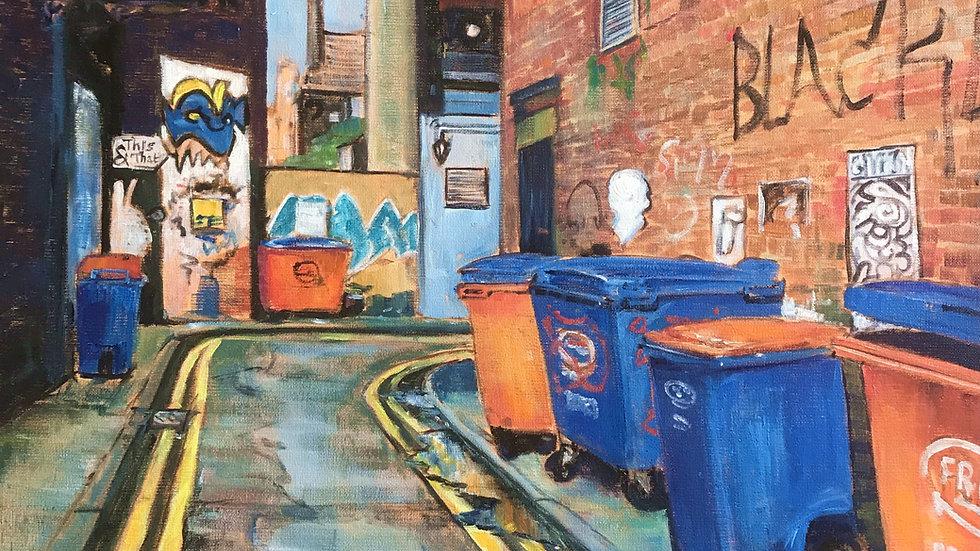 Soap Street bins, Manchester by Jane Fraser