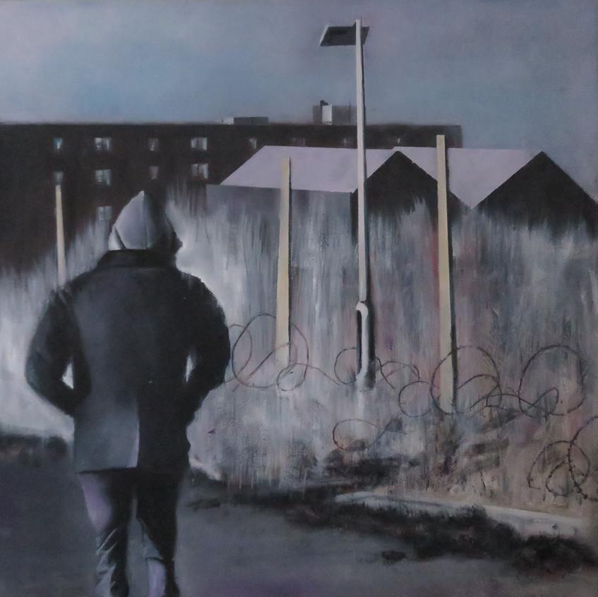 Walk-Oil on Canvas- 40_40cm