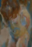 Portrait, watercolour on paper, framed