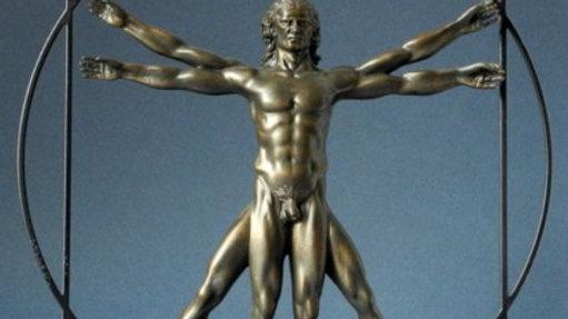 Leonardo Da Vinci the Vitruvian Man sculpture