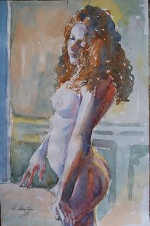 Portrait watercolour on paper